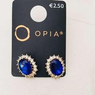 BN Sapphire Faux Gem Earrings