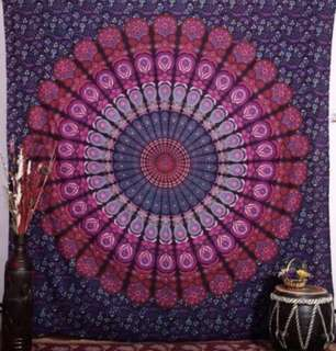 Purple Feathered Mandala Wall Hanging