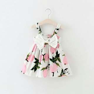 Pink Lemon Bowtie Dress