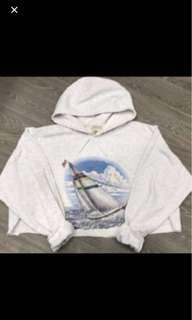 Cropped vintage hoodie