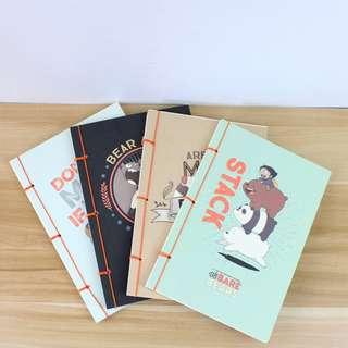 Bare Bears Plain Notebook A5