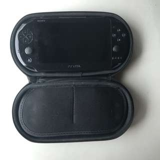 PlayStation Vita with case