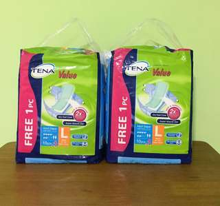 🌻 Tena Adult Diapers (L) 2bags