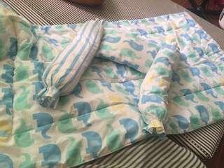 Comforter & Bolster Set