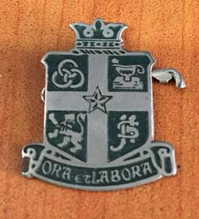 Vintage...ORA ECLABORA Metal Badge