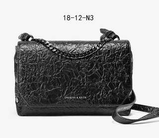 Charles Keith Textured Slingbag