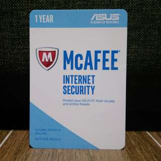 BN McAfee 1Year Internet Security