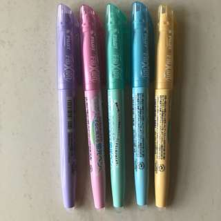 Frixion pastel highlighters