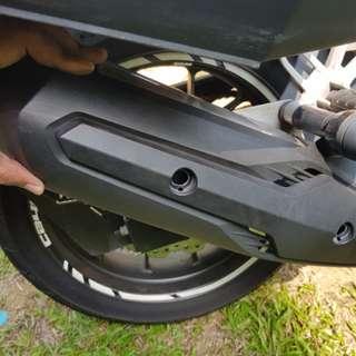 Honda 400x Tank Add on + Exhaust Cover
