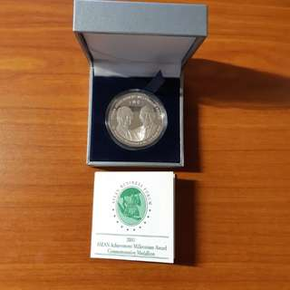 LKY and Dr. Mahathir Silver Medallion 2001