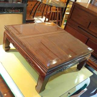 Rosewood oriental square coffee table