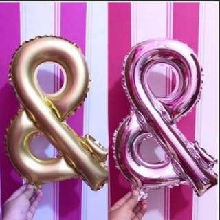 "Foil balloon ""&"" - 40cm (16"")"