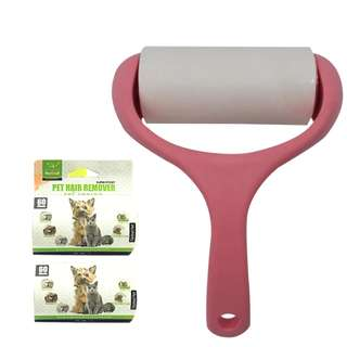 Super Sticky Pet Hair and Lint Remover with Free 2 rolls (Pink)