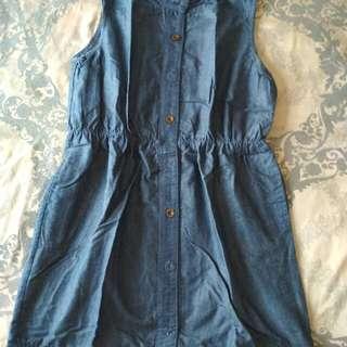 Blue jeans mini dreas