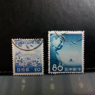 Japan stamps, Fuji, Great Budha