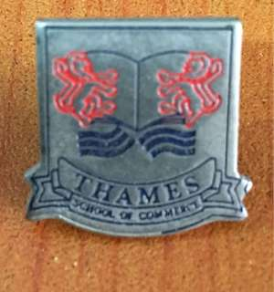Vintage...THAMES SCHOOL OF COMMERCE Metal Badge