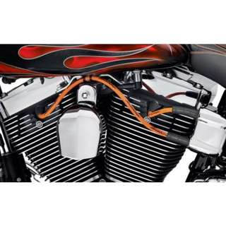 SCREAMIN EAGLE 10MM PHAT SPARK PLUG LEADS - ORANGE FOR SOFTAIL