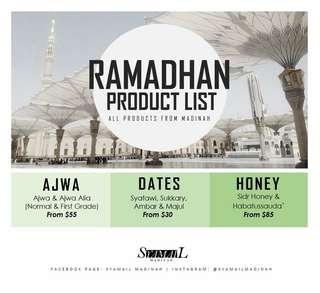 Ramadhan dates honey