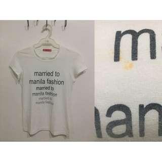 Married To Manila Fashion Shirt