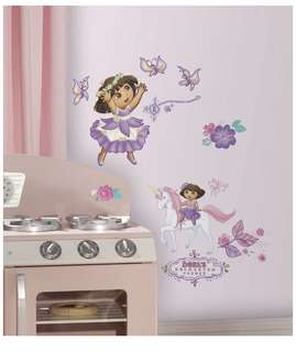 Brand New RoomMates Dora's Enchanted Forest Adventures Wall Decals