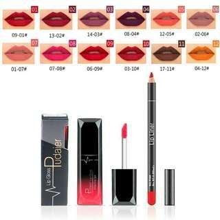 Pre-order Matte liquid lip gloss lipstick + lip liner