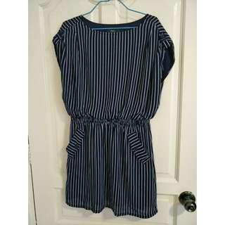 Stripes blue dress