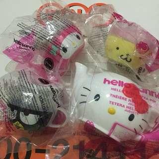 Sanrio Hello Kitty Teapot & Cups Set/USA/Happy Meal Toys