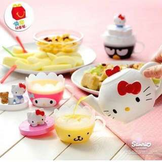Sanrio Hello Kitty Teapot & Cups Set/SG/Happy Meal Toys