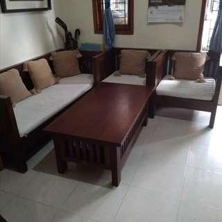 Sofa set kayu kursi-meja