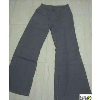 ESPRIT US SIZE 4 CHARCOAL BLACK CARGO COTTON PANTS