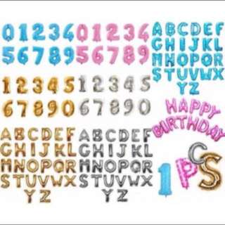 Alphabet balloons - 40cm