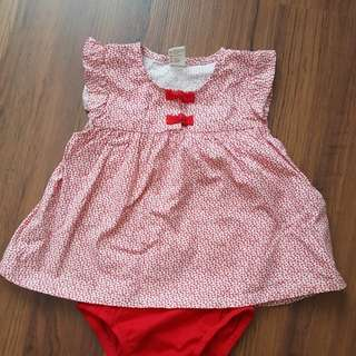Baby Dress tiny button 6 to 12m