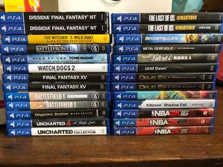 Ps4 games final fantasy uncharted battlefield witcher