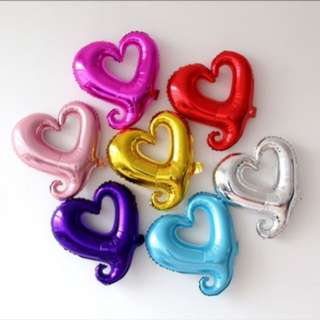 Love/Heart Frame Foil Balloon 18 inch