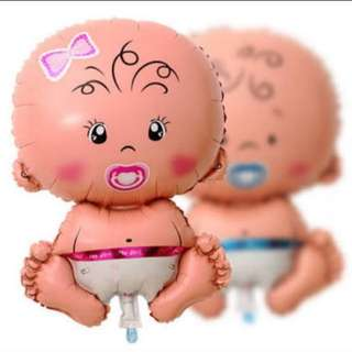 Baby Girl/Boy Foil Balloon Large Size (70cm)