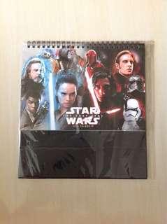 Starwars The Last Jedi Calendar 2018