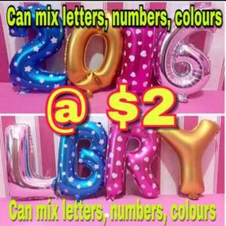 "Number Alphabet Balloon Foil - 40cm (16"")"
