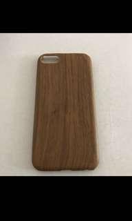Iphone7 8啡色木紋手機殼