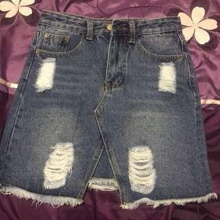 Reiley denim skirt from dissh size 8
