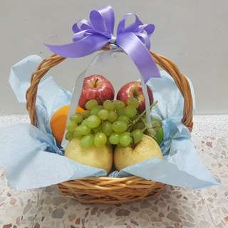 Baby Lavender Ribbon Fruit Basket