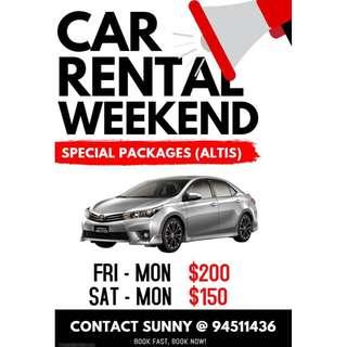 Weekend Car Rental (last car)