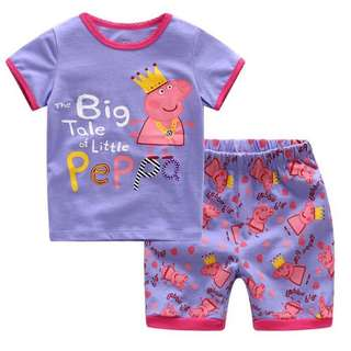 Kids Girl Cartoon Printed Casual Set Wear