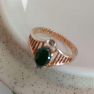 翡翠14K小指環