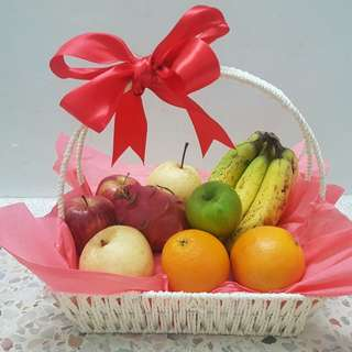 Baby Pink Tropical Fruit Basket