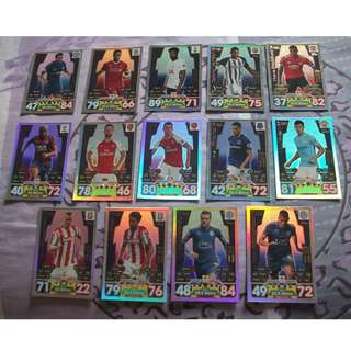 Match Attax Premier League 17/18 Pro 11 cards for sale/trade (Lot of 14 cards)