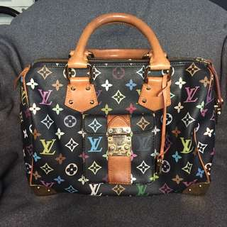 LV black multicolore Speedy 30 bag