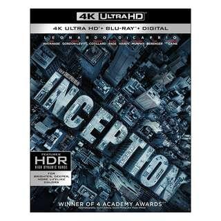 🆕 Inception 4K UHD + Blu Ray