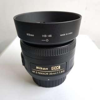 Nikon AFS 35mm f1.8G DX