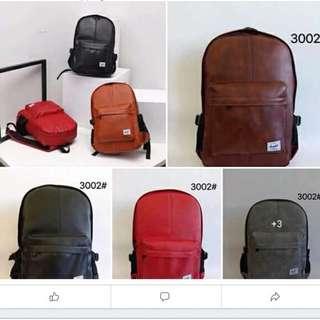 Herschel leather bagpack