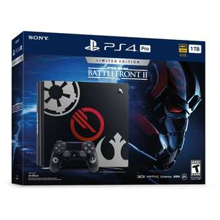 PS4 Pro 1TB Star Wars Battlefront 2 Limited Edition With Game